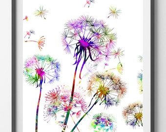 Printable Dandelions Flowers Instant Download Dandelions digital poster vertical downloadable dandelions print digital illustration [n4]