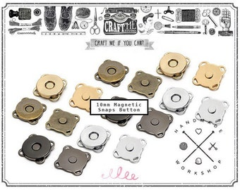 10MM 12SETS SEWING Magnetic Snaps Button / Metal Plated Magnetic Snaps Closure button WP-Y70/12