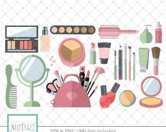 Make Up Clipart, cosmetics clip art ,perfume Clip art, vector graphics, digital download, Scrapbook Clipart - CL 118