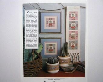 Four Corners Southwestern motif counted cross stitch pattern - Leisure Arts magazine