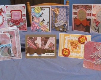 10 DIFFERENT OCCASIONS Handmade Greeting Cards (#31)