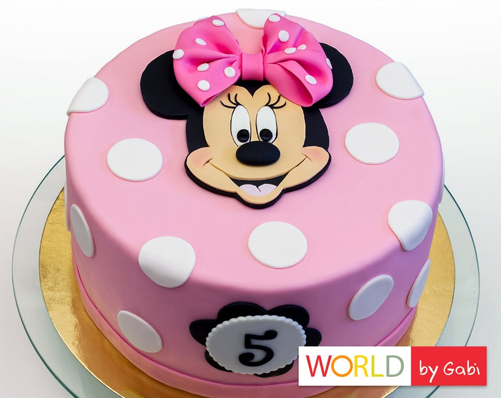 Cake Images Minnie Mouse : Minnie Mouse Cake Topper Minnie Mouse Fondant Minnie Mouse