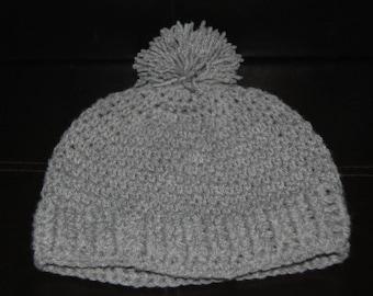 Handmade crochet pompom hat. Any size any color