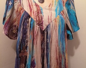 Vintage cotton Gauze boho Tribal Festival Gypsy Boho Dress