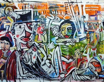 Size: 70x150 cm  painting on canvas And visit Alessandro Siviglia's website for more paintings and artworks