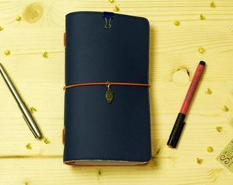 Krishna Bhagavad Gita Planner Midori Travelers Notebook Standard ISKCON Vaishnava MTN Illustrated Fauxdori Journal 3 Refills Ecoleather