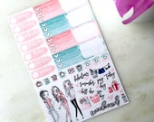 Girly Marble Mini Kit Planner Stickers