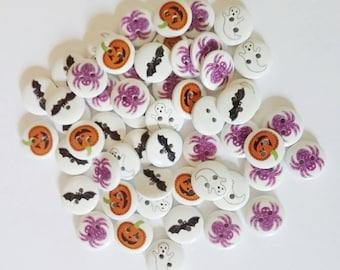 Halloween Buttons x 8