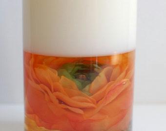 Orange Peony Candle