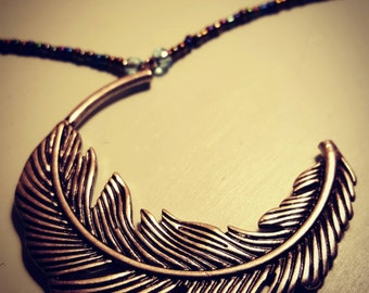 Fly Away  Feather Necklace