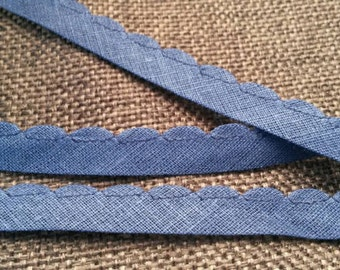 2 Yards BLUE Lace Trim Piping 1/4 Inch Wide