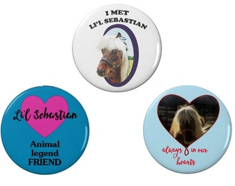 Lil' Sebastian Badge Collection - Badge/Fridge Magnet- Parks and Recreation - Pawnee