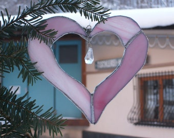 "Heart ""Valentine's day"", window decoration, window screen, SunCatcher Sun Catcher"
