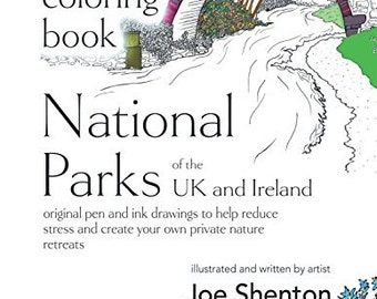 National Parks of the UK and Ireland. Adult Colouring Book, Adult Coloring Book, Illustrations, Landscapes, Colouring, Black and white art