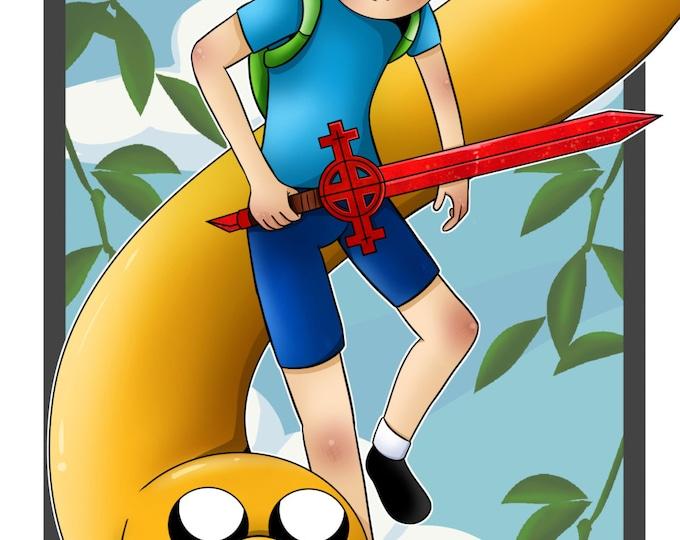 Finn and Jake 11X17