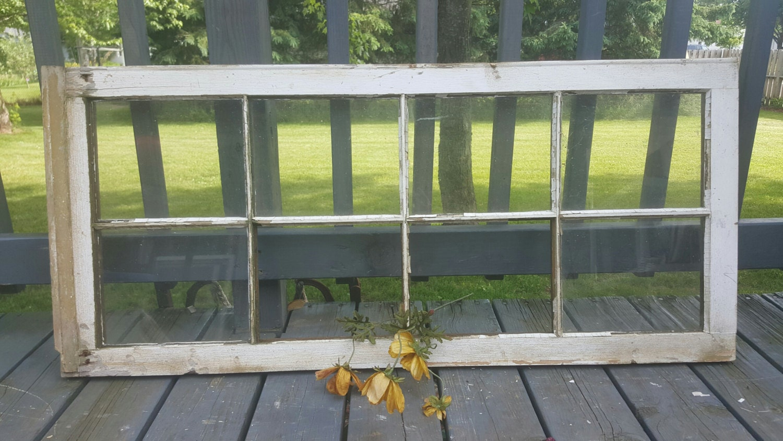 8 Pane Window Frame Farmhouse Window Transom Window Window Frame 8 Pane Old