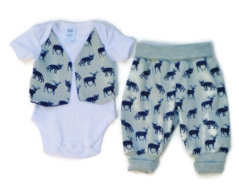 "Baby clothing, Unisex clothing outfit, size 0-3 months, ""READY TO SHIP"""