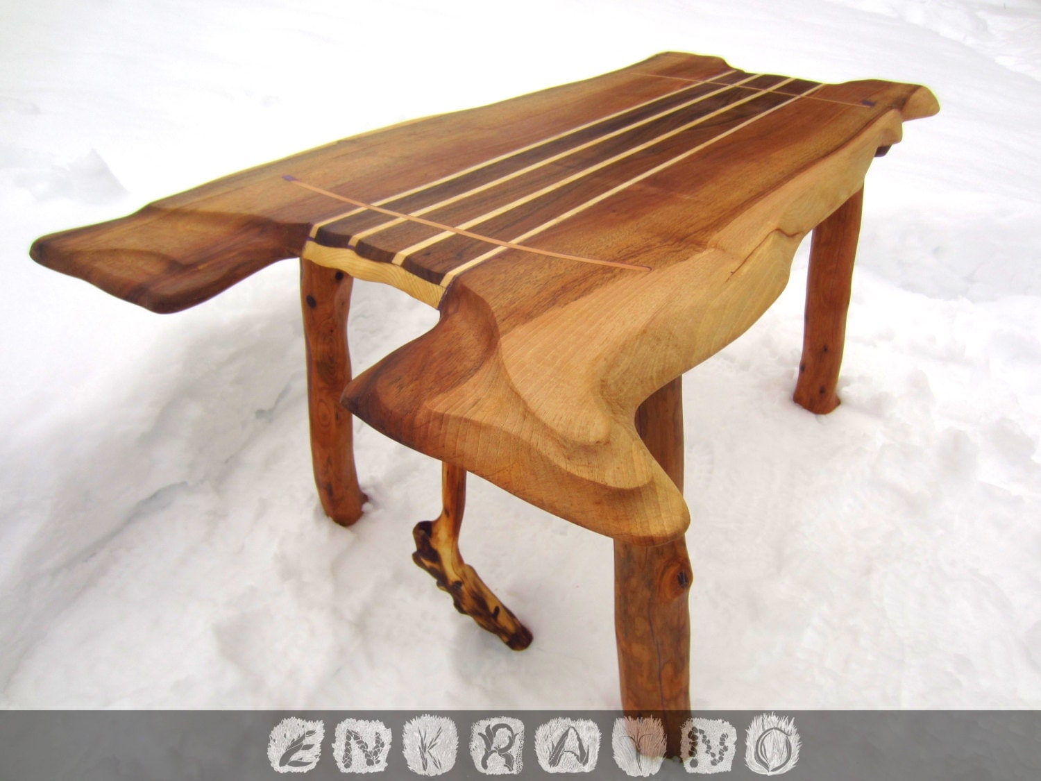 Unique wood coffee table wooden by enkratno on etsy