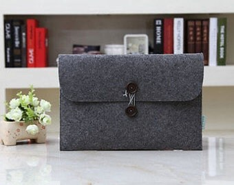 Eco-Friendy + Wool Felt Laptop Bag + Made in The USA