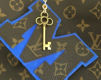 Louis Vuitton Authentic Canvas Personalized initial charm-upcycled