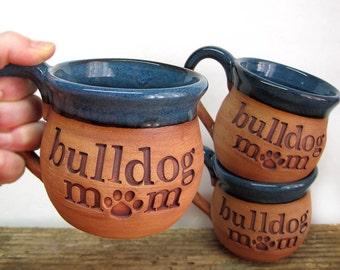 English Bulldog Pottery Mug, Handmade Bulldog Mom Mug, French Bulldog Pottery, Dog Lover Gift, English Bulldog Art Gifts