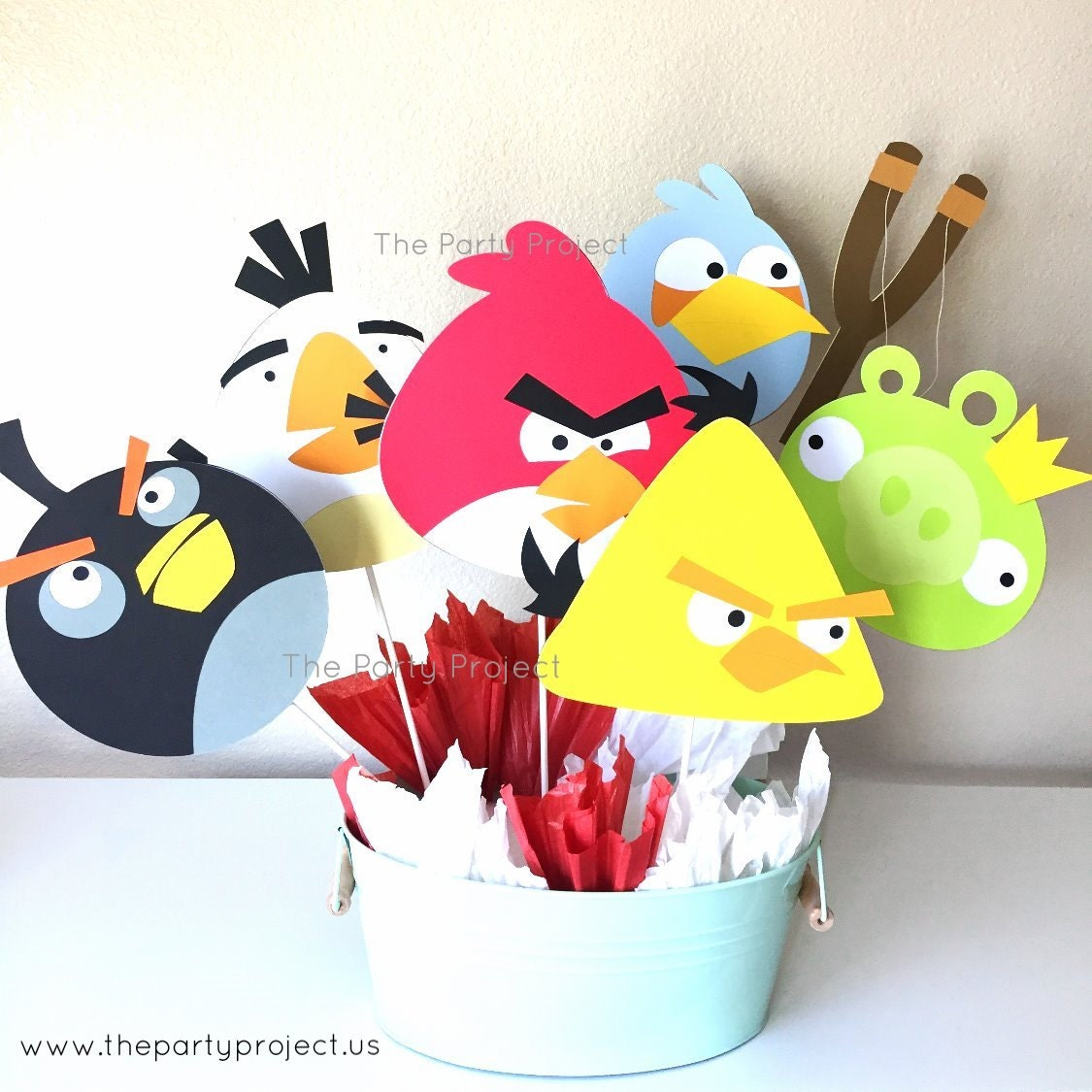 Angry Birds Centerpiece Angry Birds Birthday Party Angry