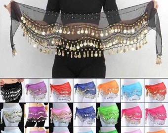 Coin Belt Belly Dancing Skirt jingle skirt