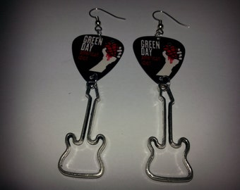 Green Day Guitar picks with guitar charms