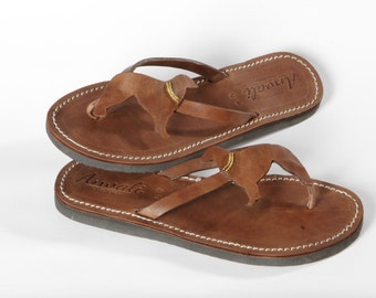 Borzoi sandals shoes flip flops dog lover gift leather handmade