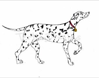 Dog Print Illustration