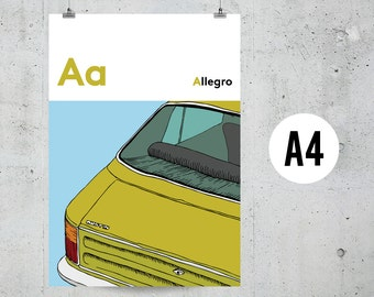 A is for Allegro - A4 Print