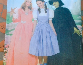 Simplicity 4136 Sewing Pattern Adult Size   The Wizzard Of Oz Costume Dorothy Fairy Godmother Witch Dress Up Play Theatre Role Play