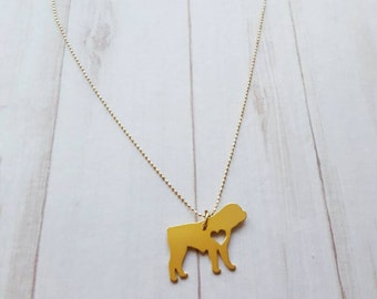 ROTTWEILER NECKLACE!! Cute Necklace for dog lovers 24k gold over copper Pendant