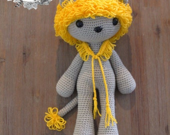 Ari the Lion ~ Amigurumi Crochet Lion ~ Room Decor