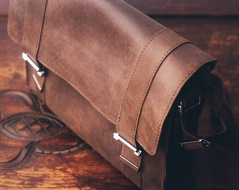 Leather Messenger bag. Brown bag. Brown messenger bag. Man bag. Mens leather messenger bag. Brief bag. Laptop bag. Brown men bag.