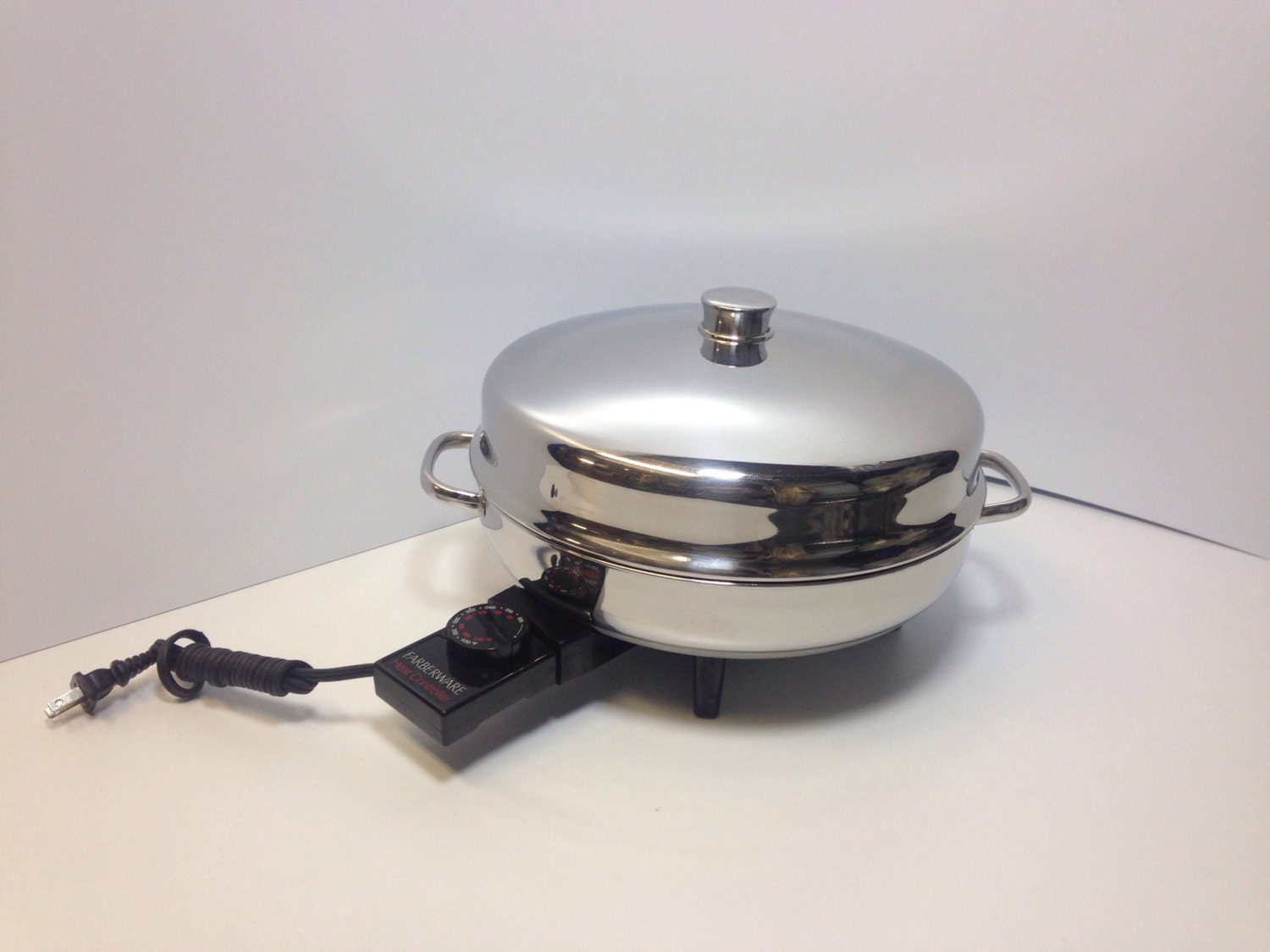 Farberware 12 Electric Skillet 344A Vtg High Dome Lid