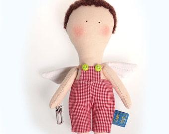 Textile doll Angel boy.