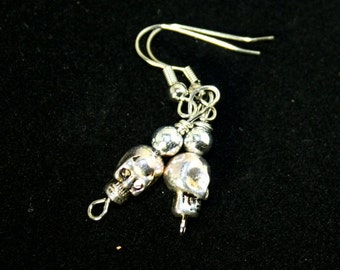metal skull earrings