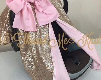 LUX | Skyla| Champagne & Light Pink  Car Seat Canopy