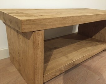 Solid English Oak Coffee Table / TV Stand