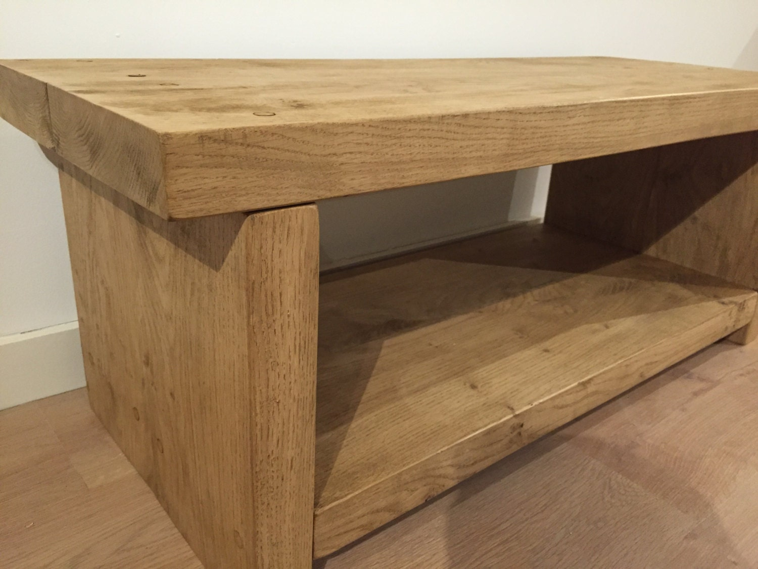 Solid English Oak Coffee Table Tv Stand