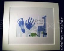 Jungle Nursery Print Keepsake - Hand prints, foot prints or a mixture of the two!