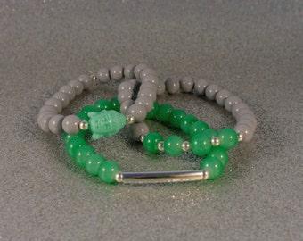 Green and Gray Buddha