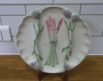 Vintage French Asparagus Plate