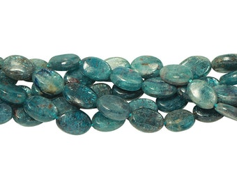 15 IN Strand 8x10 mm Kyanite Oval Smooth Gemstone Beads (KY100102)