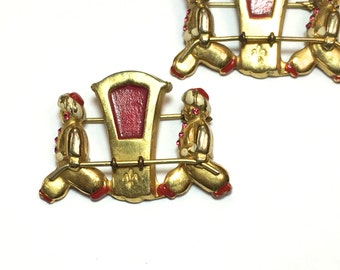 40s Asian Design Matching Pin Set