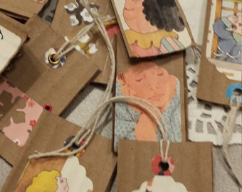Gift tags, Embellishments, Cardboard & Vintage Book Page Tags