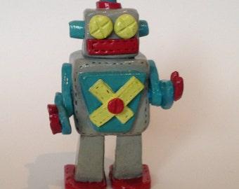 Ceramic Retro Robot Figure