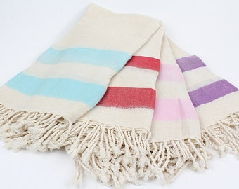 Linen Turkish Towel (Peshtemal) -%50 Discount- Thin