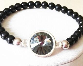 Black Pearl Stretch Bracelet